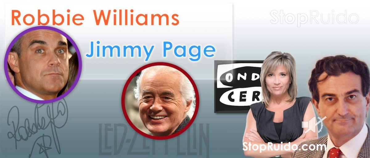 Robbie Williams y Jimmy Page: Problemas entre Vecinos